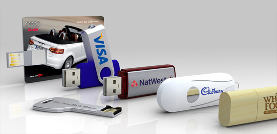 Different models of customised usb flash drives